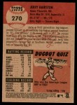 2002 Topps Heritage #270  Jerry Hairston  Back Thumbnail