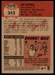 2002 Topps Heritage #343  Jeff Bagwell  Back Thumbnail