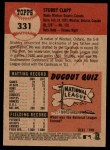 2002 Topps Heritage #331  Stubby Clapp  Back Thumbnail