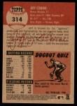 2002 Topps Heritage #314  Jeff Conine  Back Thumbnail