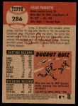 2002 Topps Heritage #286  Craig Paquette  Back Thumbnail