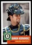 2002 Topps Heritage #285  Ramon Hernandez  Front Thumbnail