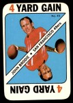 1971 Topps Game Inserts #49  John Brodie  Front Thumbnail