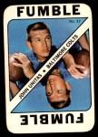 1971 Topps Game Inserts #37  Johnny Unitas  Front Thumbnail