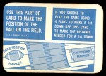 1971 Topps Game #0   Field Marker Back Thumbnail