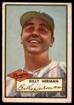 1952 Topps #394  Billy Herman  Front Thumbnail