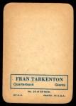 1970 Topps Glossy #15  Fran Tarkenton      Back Thumbnail