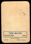 1970 Topps Glossy #3  Tom Matte  Back Thumbnail