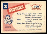 1959 Fleer Three Stooges #90   What's Wrong No More chairs in this room Back Thumbnail