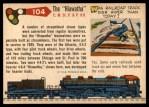 1955 Topps Rails & Sails #104   The Hiawatha Back Thumbnail