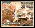 1941 Gum Inc. War Gum #14   Filipinos Destroy 154 Japanese Boats Front Thumbnail