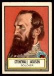 1952 Topps Look 'N See #40  Stonewall Jackson  Front Thumbnail