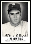 1960 Leaf #39  Jim Owens  Front Thumbnail