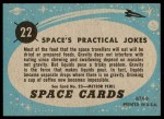 1957 Topps Space Cards #22   Space's Practical Jokes  Back Thumbnail