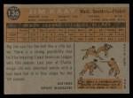 1960 Topps #136   -  Jim Kaat Rookie Star Back Thumbnail