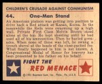 1951 Bowman Red Menace #44   One-Man Stand Back Thumbnail