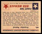 1951 Bowman Red Menace #40   Frontier Patrol Back Thumbnail