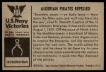1954 Bowman U.S. Navy Victories #37   Algerian Pirates Repelled Back Thumbnail