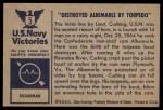 1954 Bowman U.S. Navy Victories #5   Destroyed Albemarle by Torpedo Back Thumbnail