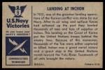 1954 Bowman U.S. Navy Victories #9   Landing at Inchon Back Thumbnail