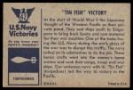 1954 Bowman U.S. Navy Victories #42   Tin Fish Victory Back Thumbnail