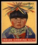 1947 Goudey Indian Gum #58   Zy-You-Wah Front Thumbnail