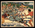 1941 Gum Inc. War Gum #56   Moro Tribesmen Slaughter Invaders Front Thumbnail