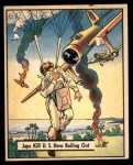1941 Gum Inc. War Gum #37   Japanese Kill U.S. Hero Bailing Out Front Thumbnail