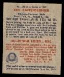 1949 Bowman #176  Ken Raffensberger  Back Thumbnail