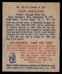 1949 Bowman #159  Glen Moulder  Back Thumbnail