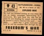 1950 Topps Freedoms War #43   Exploded Mine   Back Thumbnail