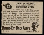 1950 Topps Bring Em Back Alive #42   Drums In The Night Back Thumbnail