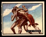 1950 Topps Bring Em Back Alive #39   Test Of Strength Front Thumbnail