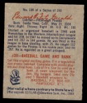 1949 Bowman #109 SCR Ed Fitzgerald  Back Thumbnail