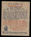 1949 Bowman #115  Dutch Leonard  Back Thumbnail