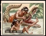 1950 Topps Bring Em Back Alive #89   Hero Of The Swamp Front Thumbnail