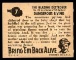 1950 Topps Bring Em Back Alive #7   The Blazing Destroyer Back Thumbnail