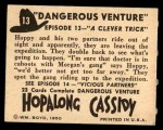 1950 Topps Hopalong Cassidy #13   clever trick Back Thumbnail