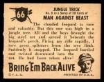 1950 Topps Bring Em Back Alive #66   Jungle Trick Back Thumbnail