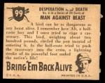 1950 Topps Bring Em Back Alive #99   Desperation And Death Back Thumbnail