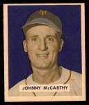 1949 Bowman #220  Johnny McCarthy  Front Thumbnail