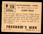 1950 Topps Freedoms War #158   Starry Night  Back Thumbnail