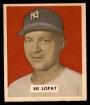 1949 Bowman #229  Eddie Lopat  Front Thumbnail