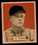 1949 Bowman #132 PRT Al Evans  Front Thumbnail