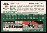 2003 Topps Heritage #30 NEW Sammy Sosa   Back Thumbnail