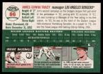 2003 Topps Heritage #86  Jim Tracy  Back Thumbnail