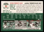 2003 Topps Heritage #31  Kevin Cash  Back Thumbnail