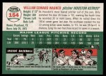 2003 Topps Heritage #154  Billy Wagner  Back Thumbnail