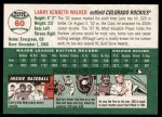 2003 Topps Heritage #60  Larry Walker  Back Thumbnail