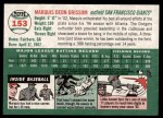 2003 Topps Heritage #153  Marquis Grissom  Back Thumbnail